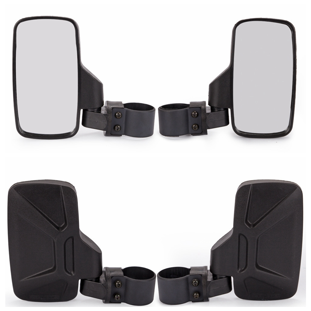 1 Pair Universal Type UTV Side View Mirrors Polaris RZR XP1000 XP1K Turbo black