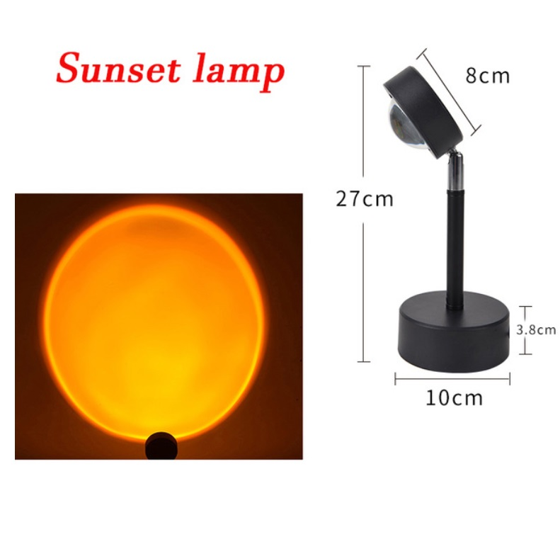 Usb Sunset Rainbow Red Projector Led Sun Projection Night Light For Bedroom Bar Coffee Store Wall Decoration Lighting Sunset
