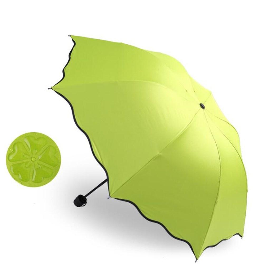 Portable Triple Folding Rainproof Windproof Flowering Umbrella Anti-UV Sunproof Parasol