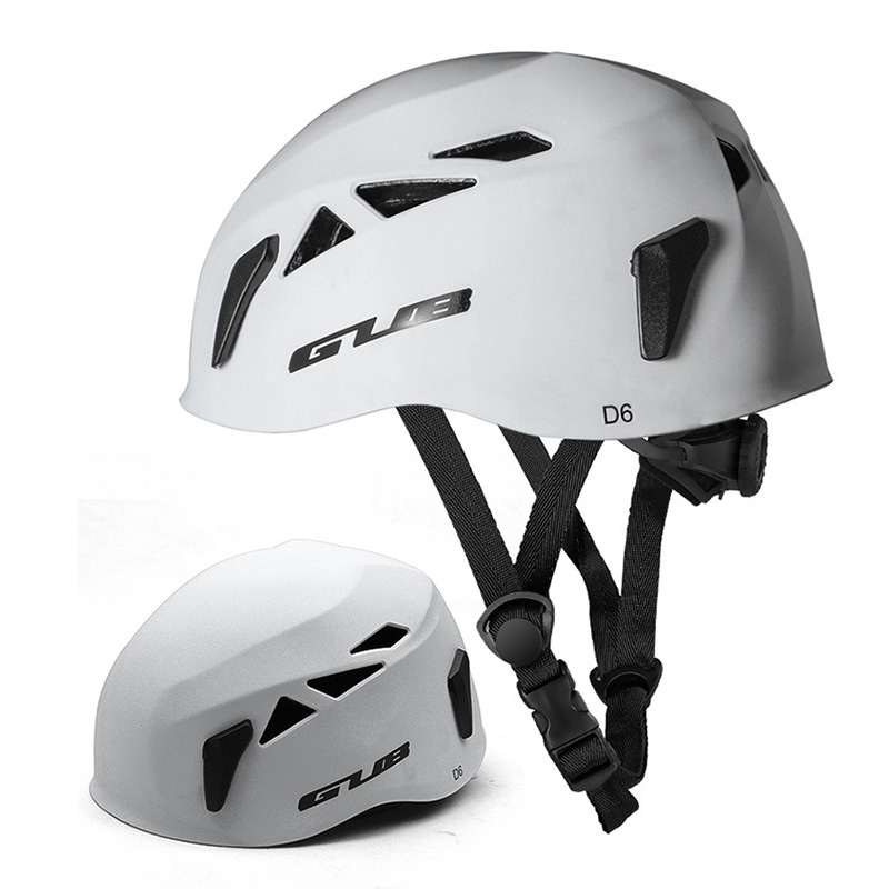 GUB Outdoor Downhill Extension Cave Rescue Mountaineering Upstream Helmet Safety Hat Climbing Equipment Matte white_L