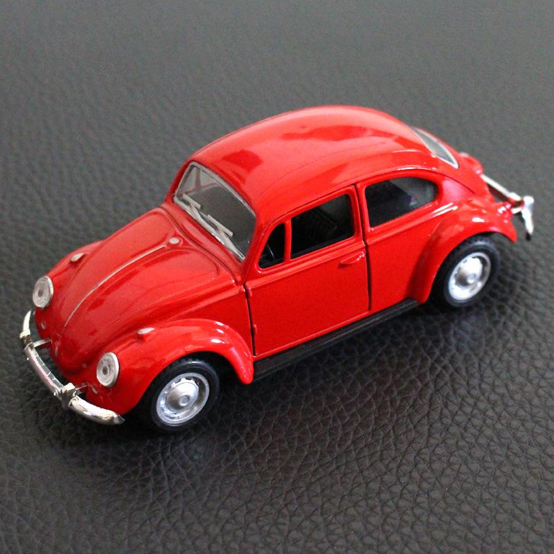 Alloy Vintage Car Shape Modeling Toy for Car Cake Decoration red