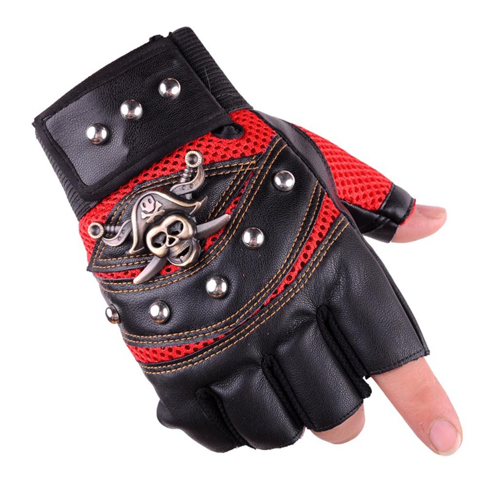 Leather Gloves Half Fingers