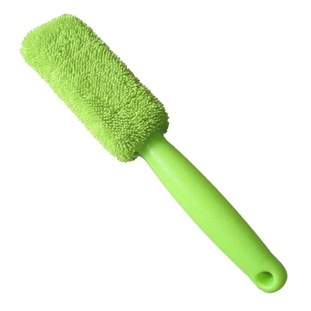 Car Wheel Wash Brush Vehicle Cleaning Brush Wheel Rims Tire Washing Brush  green_28*6*4cm