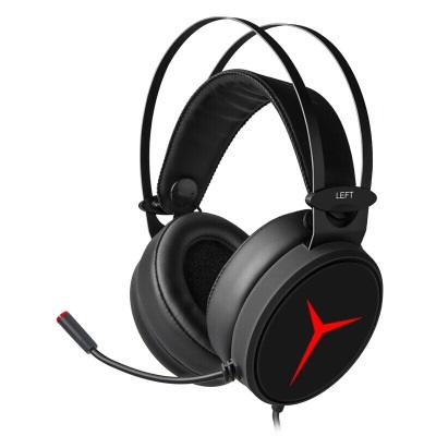 Original LENOVO Savior Y360 Wired Gaming  Headset Gaming Earphones Desktop With Microphone black