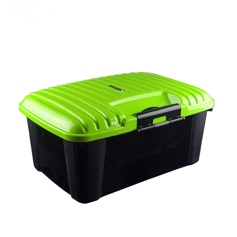 Car Trunk Organizer Box Storage Bag Auto Trash Tool Bag Large Cargo Storage Stowing Tidying Car Accessories Green _51*38*24cm