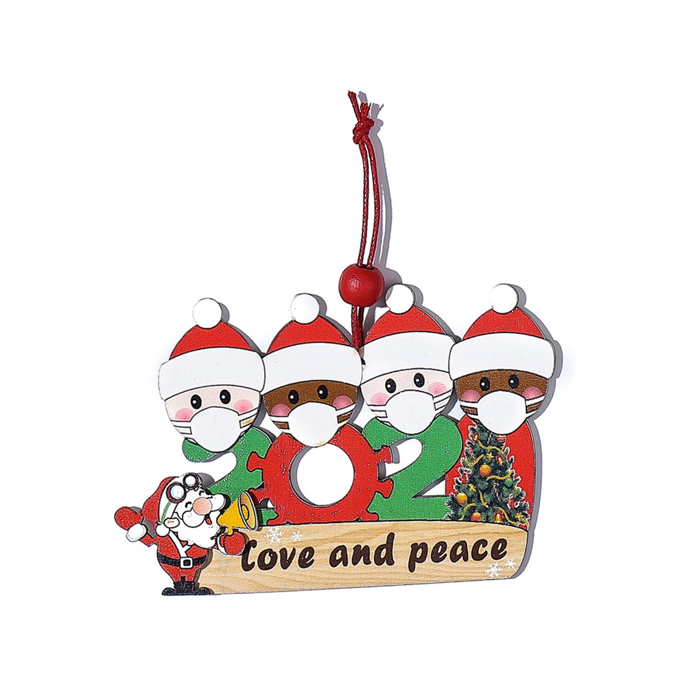 Survived Family Ornament 2020 Christmas Holiday Decorations Xmas Tree Hanging Pendant 4 people