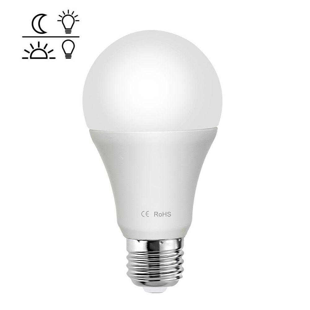 85-265V E27 LED Light Sensor Lamp Bulb Automatic Dusk to Dawn Auto ON/OFF Globe LED Light Bulb for Home Porch Hallway