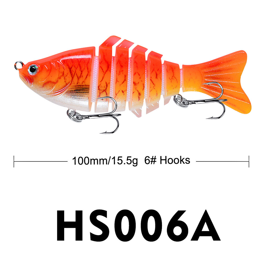 Sinking Wobblers Fishing Lures 10cm 15.5g Multi Jointed Swimbait Hard Artificial Bait Pike/Bass Fishing Lure Crankbait A