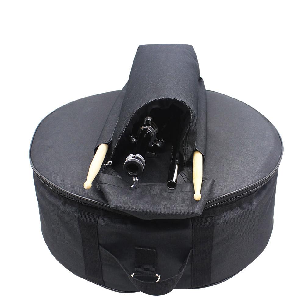 14 Inch Snare Drum Backpack Oxford Cloth Black Bag with Shoulder Strap black