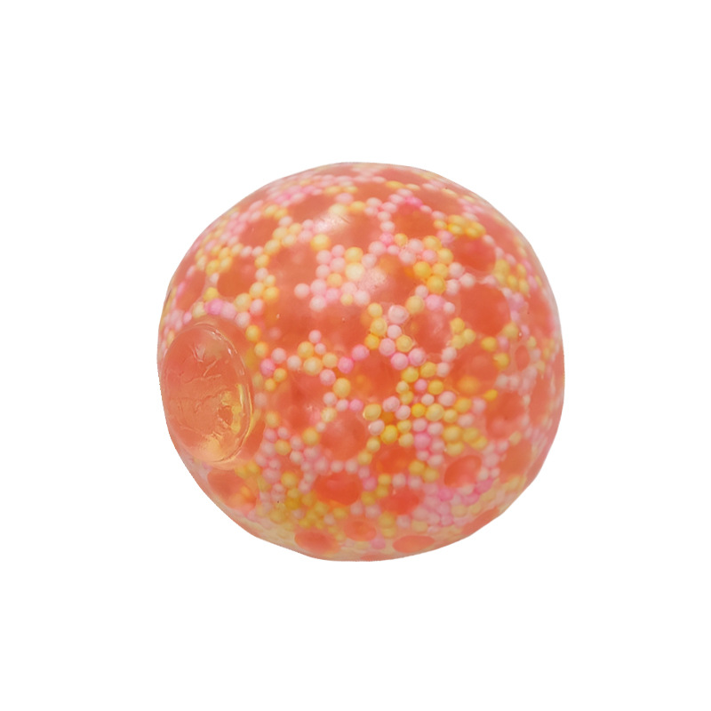Decompress Vent Ball Stress Ball Squeeze Relax Jelly Beads Colourful Toy Hand Anti-stress Relief Pressure Ball Orange