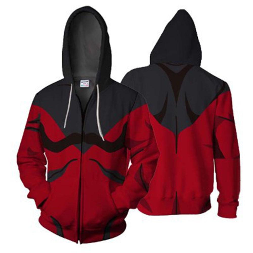 3D Digital Fashion Printing Thin Model Male Hoodie New zipper naruto_S