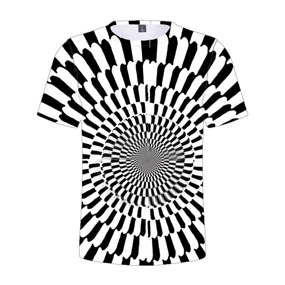 Children's T-shirt 3D digital color printing  short-sleeved top for 5-12 years old kids 8023_150cm