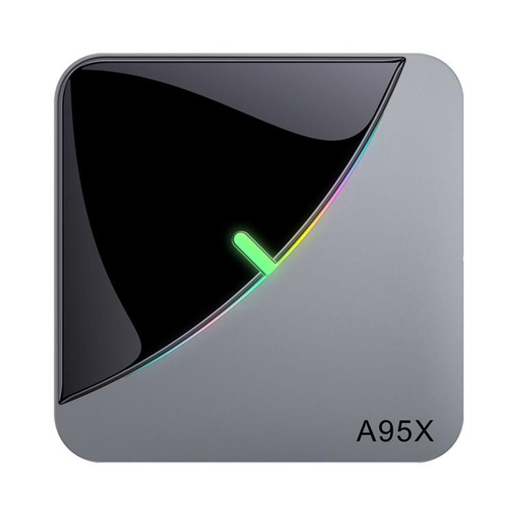 A95X F3 Air 8K RGB Light TV Box Android 9.0 Amlogic S905X3 4GB 64GB Wifi 4K Netflix Smart TV BOX Android 9 A95X-F3 Gray + black_4GB + 64GB with T1 voice remote control