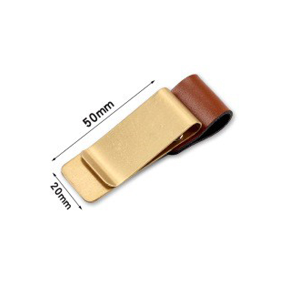 [Indonesia Direct] Handmade Leather Stainless Steel Pen Holder Clip Journal Notebook Accessory