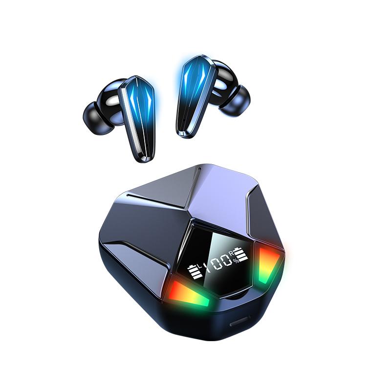 1 Pair X6 CVC8.0 Noise Reduction Earphones Dual-mode Decoding Bluetooth 5.1 Wireless Headsets Heavy Bass Headphones Black