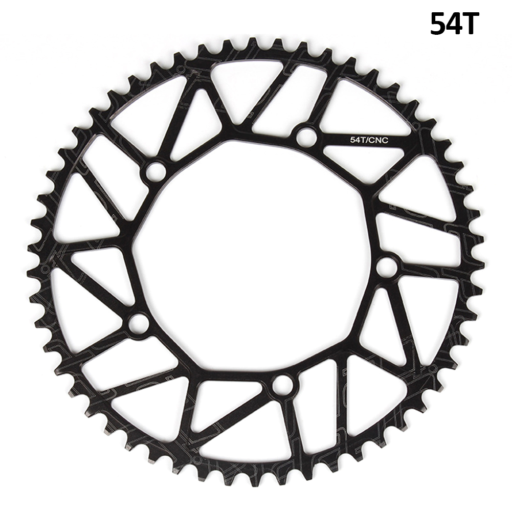 [Indonesia Direct] Litepro Bicycle Ultra-light Chain Wheel 8/9/10/11 Speed Aluminium Alloy Chainwheel Positive and negative tooth single disc 54T