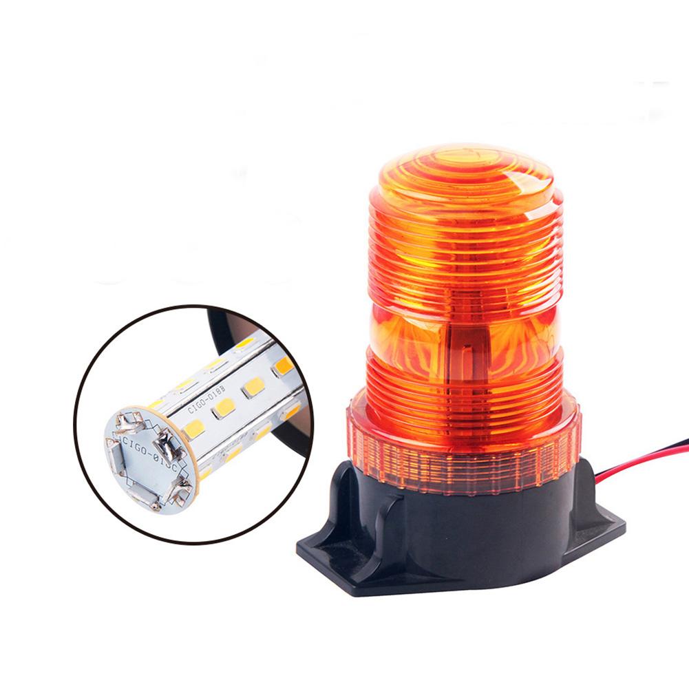 10-110v Forklift Warning Light Stroboflash Lamp Led Roof Engineering Vehicle Flashing Light black