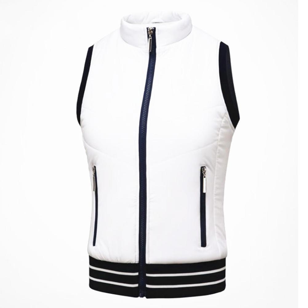 Golf Clothes for Women Vest Thicken Simier Warm Sport Vest Golf Suit Plus vest [white]_M