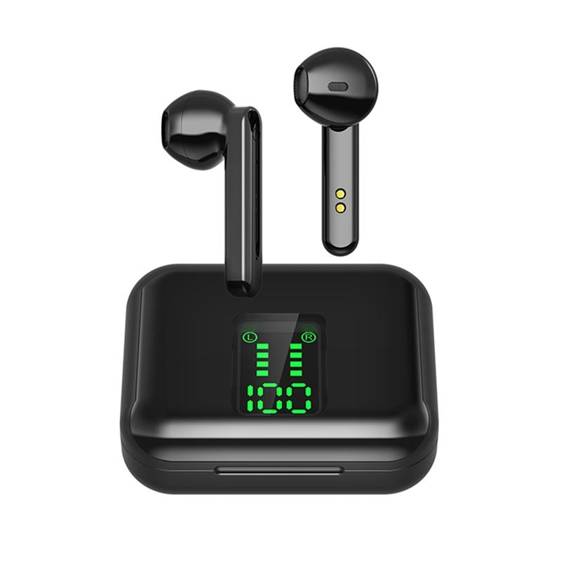 X15 TWS Bluetooth Headphone Wireless Earphone LED Display 5.0 Bluetooth Headset black