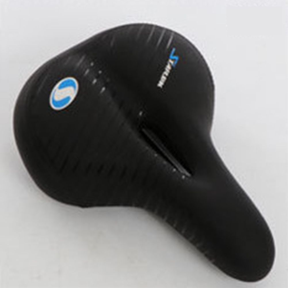 Mountain Bike Cushion with Light Thicken Widen Seat Comfortable Bike Seat Line blue_270*200mm