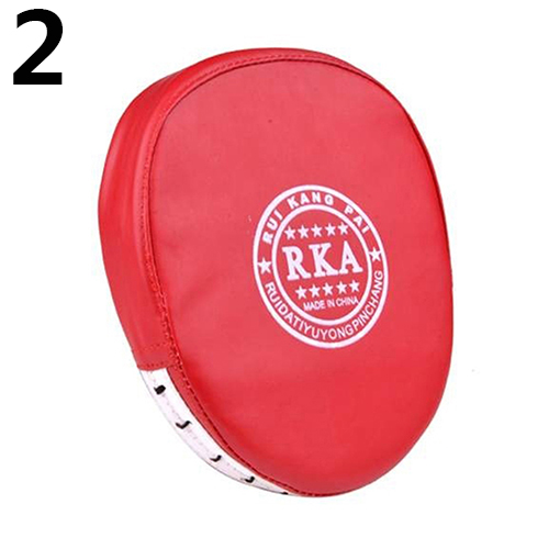 PU Leather Boxing Glove Fist Target Punch Pad for MMA Karate Boxer Muay Thai Training RKA red_000