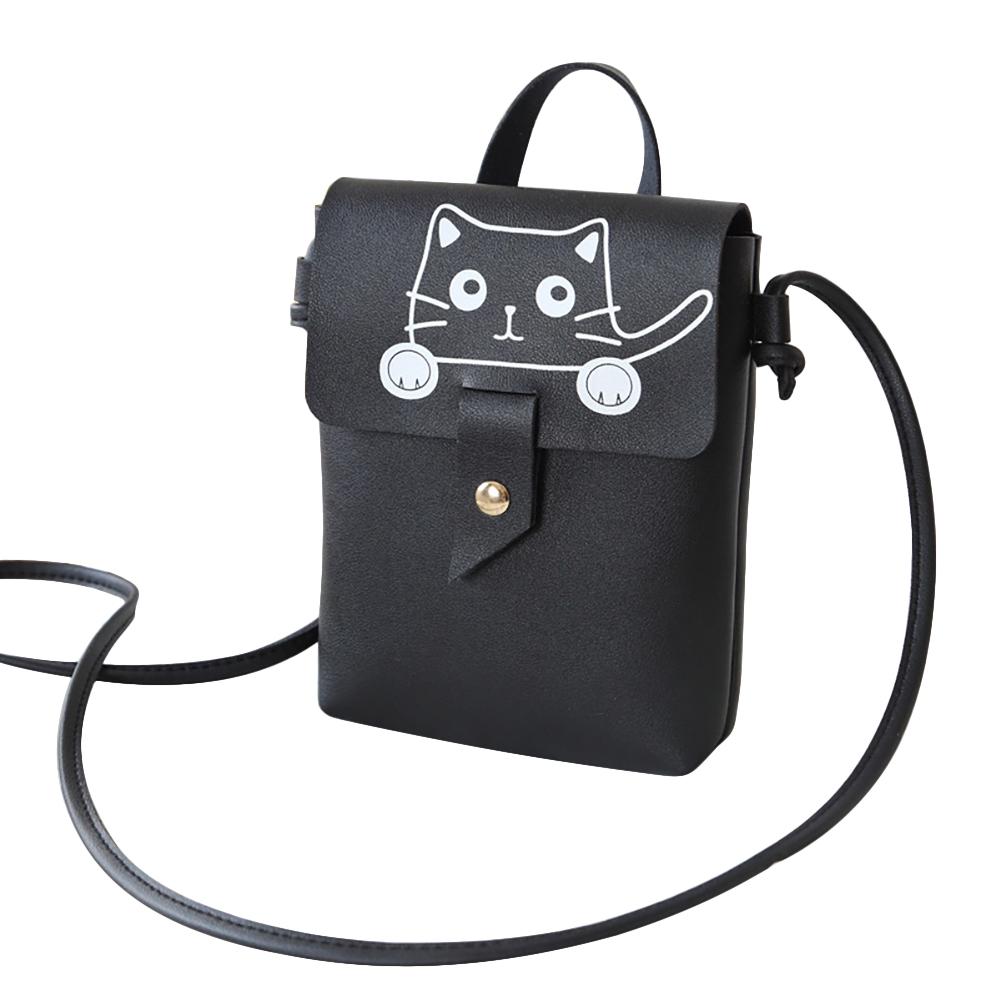 Lady Casual Singal Shoulder Belt Bag Handbag Shoulder Satchel Black