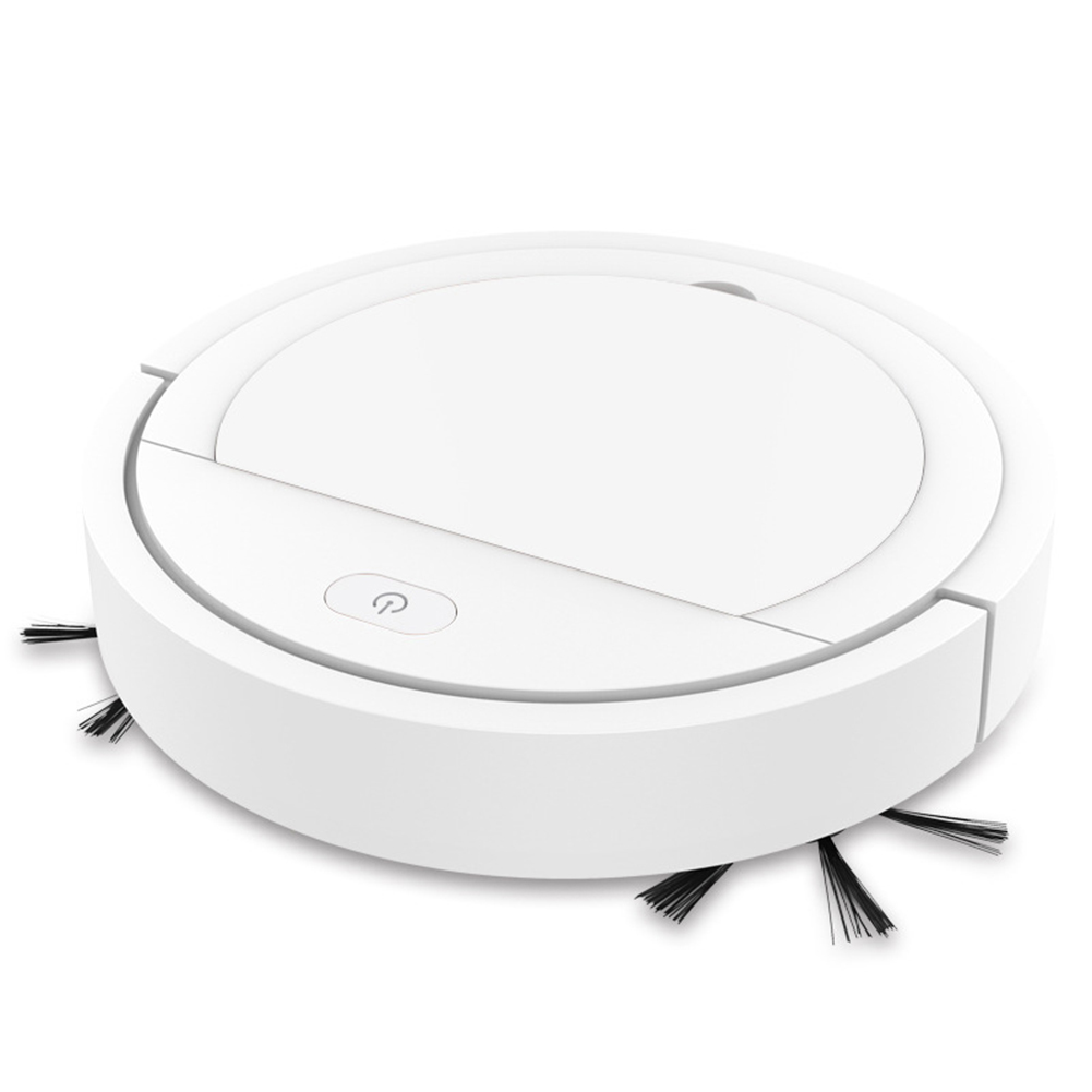 Robot  Vacuum  Cleaner Home Usb  Charging Automatic Sweeper The first generation of sweeper double motors white