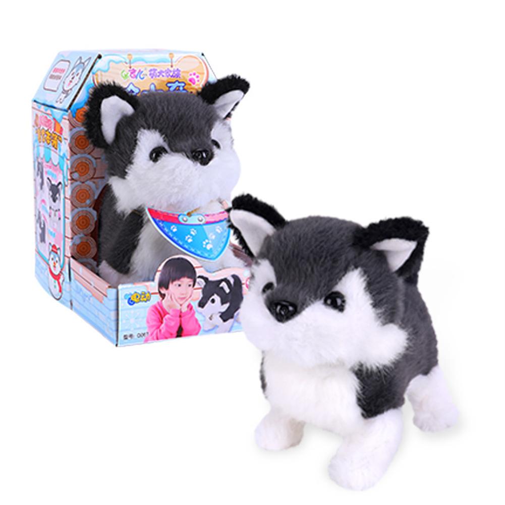 Dog Shape Electric  Plush  Toy Cute Simulation Puppy Plush  Toys Smart Robot  Dog Husky