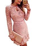 [US Direct] YesFashion Women Fashion Long Sleeve Casual Lace Dress Party Dress
