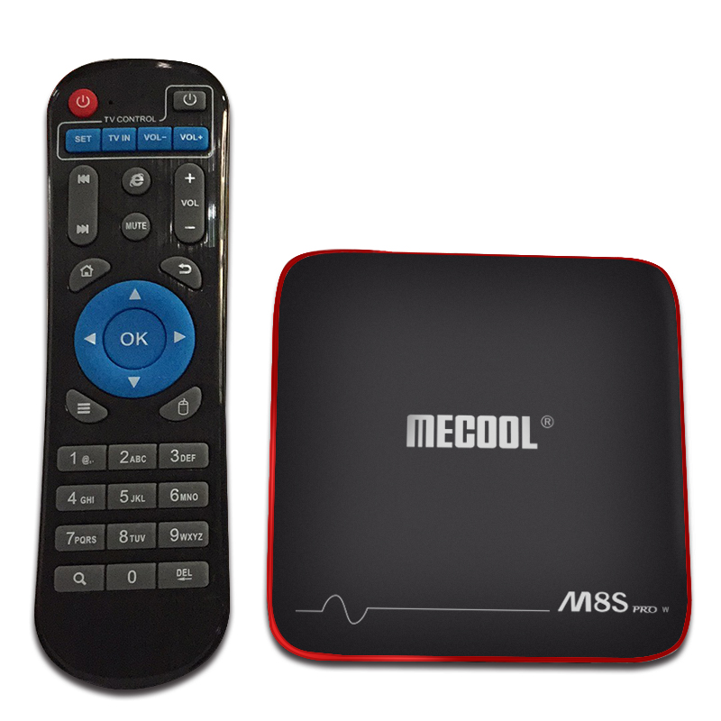 Mecool M8S PRO W TV Box - Ordinary RC,AU Plug