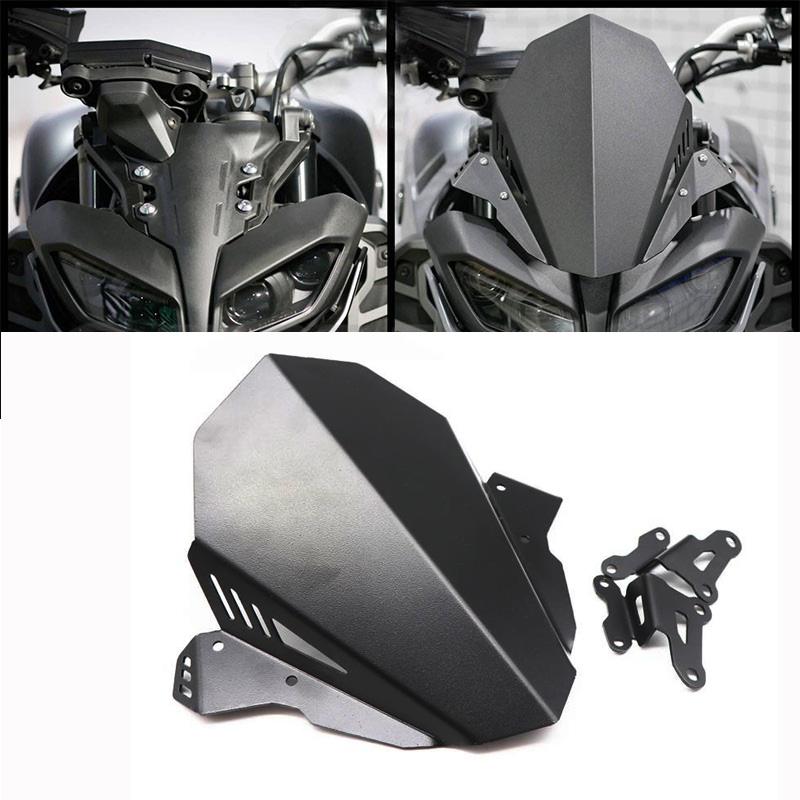 Motorcycle Headlight Windshield Windscreen For YAMAHA MT-09 MT09 17-20 black
