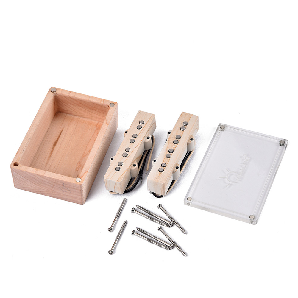 4 String Maple Wooden Pattern Bridge Pickup Box for Electric Guitar Music Instrument Accessories