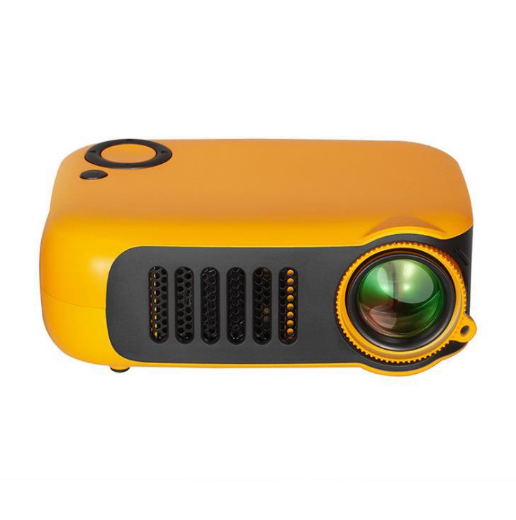 A2000 Mini Portable Projector 800 Lumen Supports 1080P LCD 50,000 Hours Lamp Life Home Theater Video Projector Support Power Bank orange