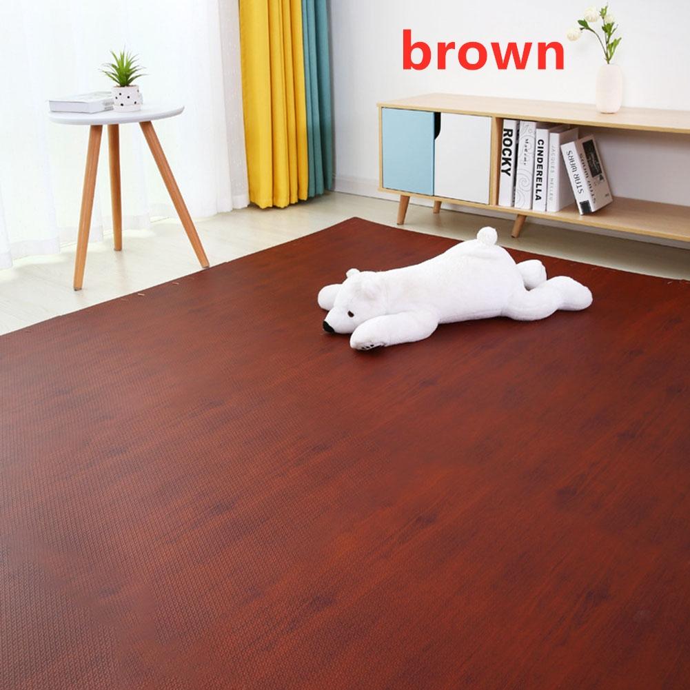 16Pcs/Set Imitation Wood Grain Crawling Mat Educational Game Pad for Children brown_16pcs
