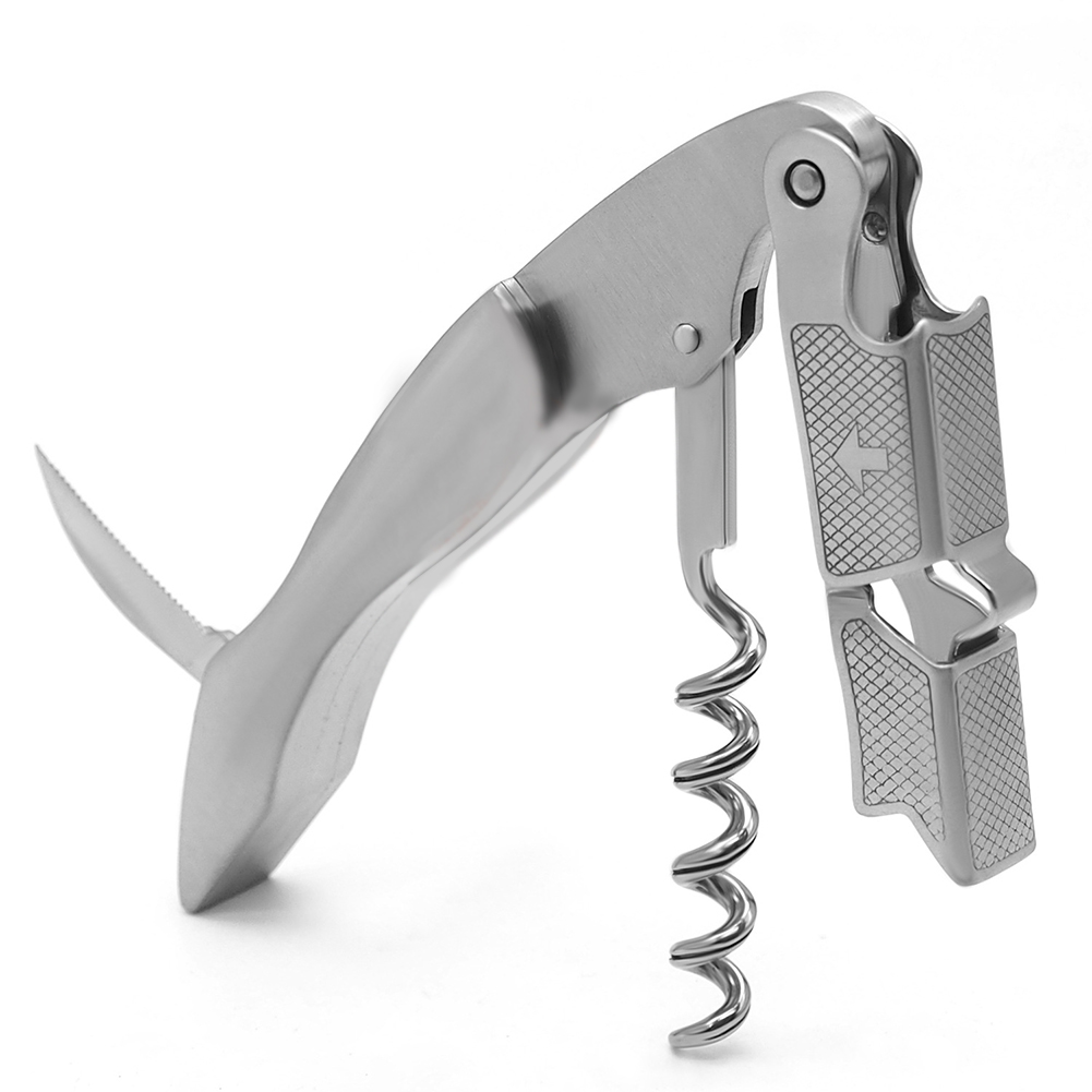 Stainless Steel Rotation Wine Bottle Opener with Cutter Grid