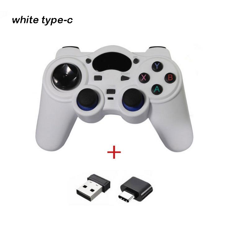 2.4g Android Gamepad Wireless Gamepad Joystick Game Controller Joypad White type-C interface