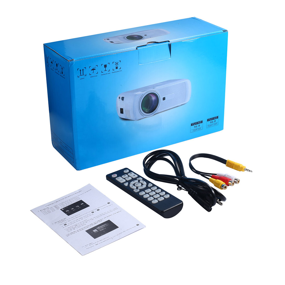 U90 Mini Movie Projector with Speaker 1500 Lumen Video Support 1080P Display for Home Theater Entertainment black_European regulations