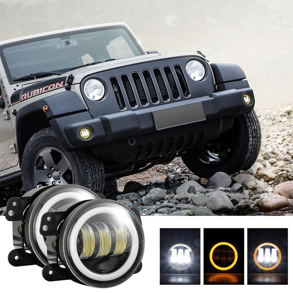 2pcs/set 4 inches 30 watts 6000K for jeep LED Angel Eye Fog Lamp yellow light
