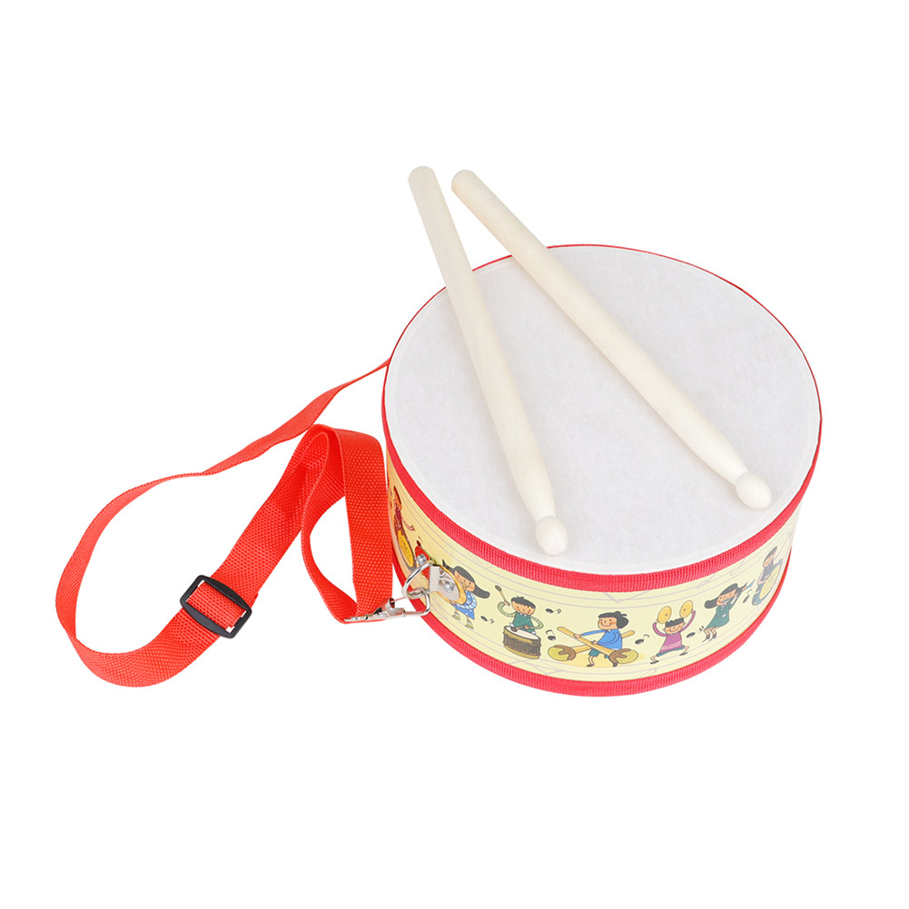 Children's Drum Double-sided Drum Colorful Kid Music Educational Toy