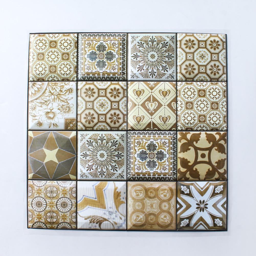 3D Faux Tile Wall Sticker Simple Home Wallpaper Collision Resistant Sticker DIY Decoration 30x30cm #523