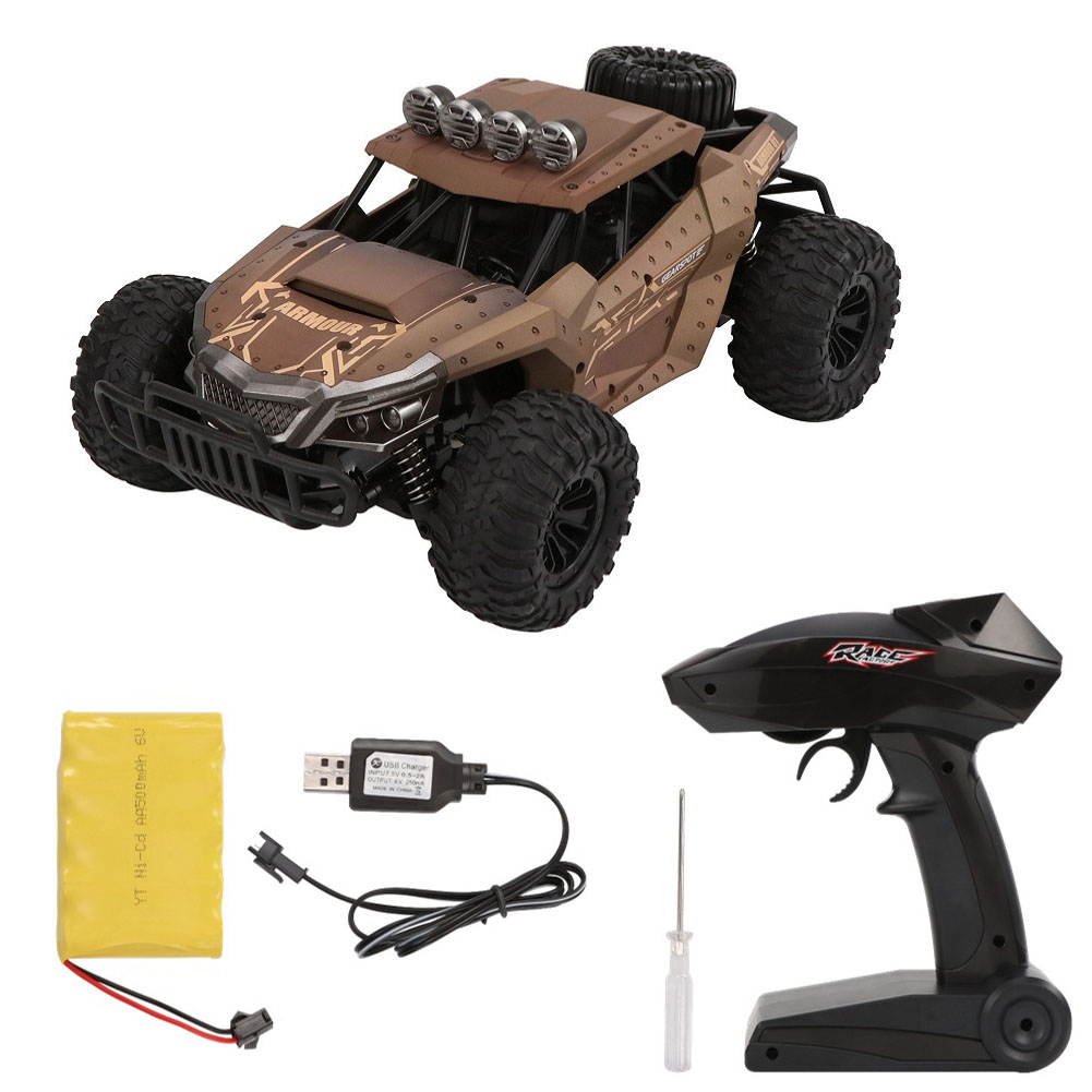 RC Car HQ1803 1/18 2.4G 4WD Off-Road High Speed Racing Car Climbing Remote Control Electric Off Road Truck brown_standard