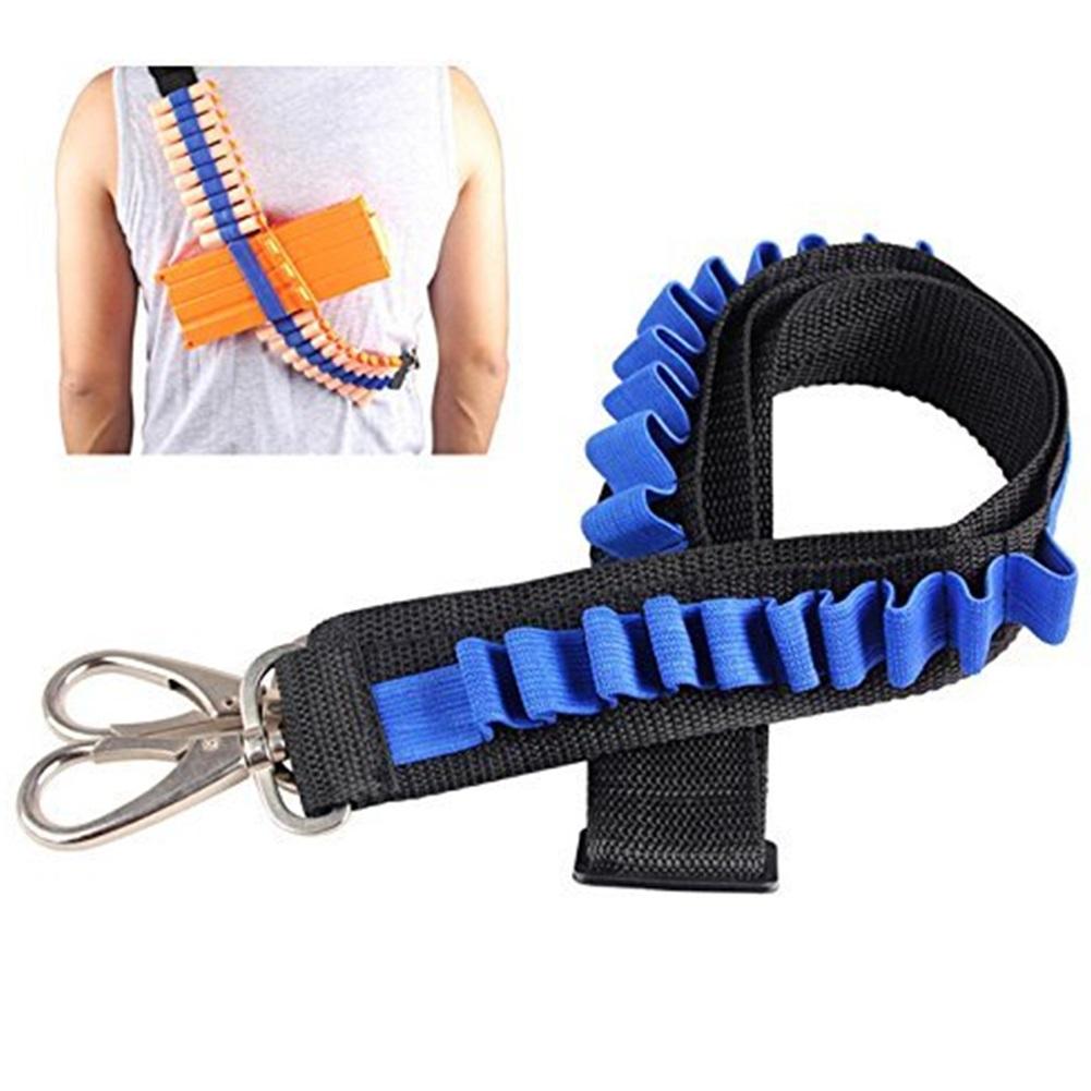 Children 20 Grid Bandolier Soft Bullet Belts Adjustable Portable Cartridge Belt Darts Belt for CS Game
