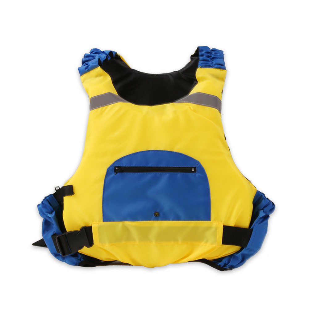Life Jackets Epe Adult Professional Flood Control Surfing Buoyancy Vest Drifting Flood Control Surfing Vest Yellow and blue_free size