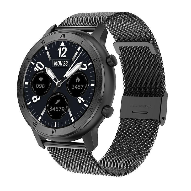 Dt89 Color Screen Smart Watch Information Push Female Cycle Reminder Bluetooth Sports Bracelet Black Steel