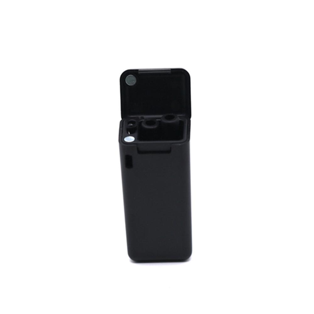 Foldable Drinking Straws Reusable Stainless Steel Telescopic Straw Portable for Drinking Black (black tube)