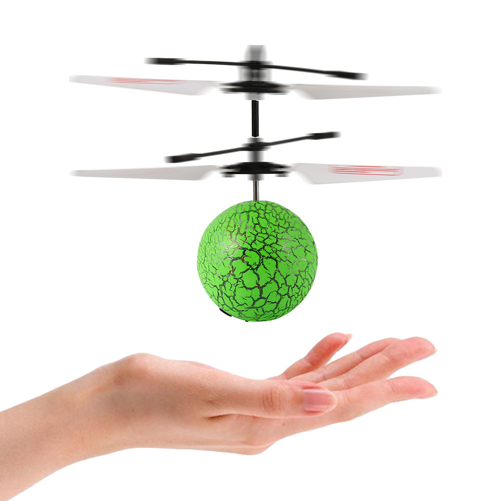Flying Balls for Kids Hand Induced Flight, RC Green Flying Ball Drone Helicopter for Kids/Teenager with Remote Controller
