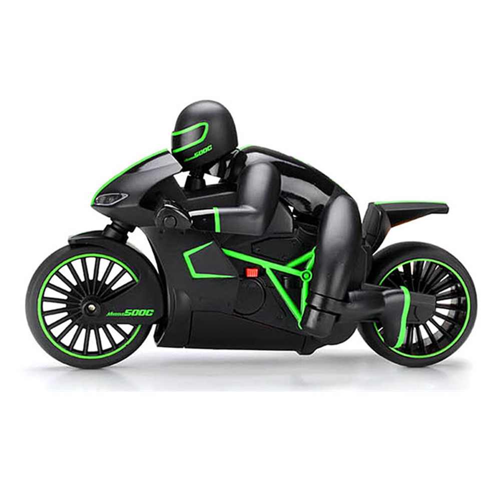2.4GHz Mini Fashion RC Motorcycle With Cool Light High Speed RC Motorbike Model Remote Control Drift Motor Toys For Kids Birthday Gift green