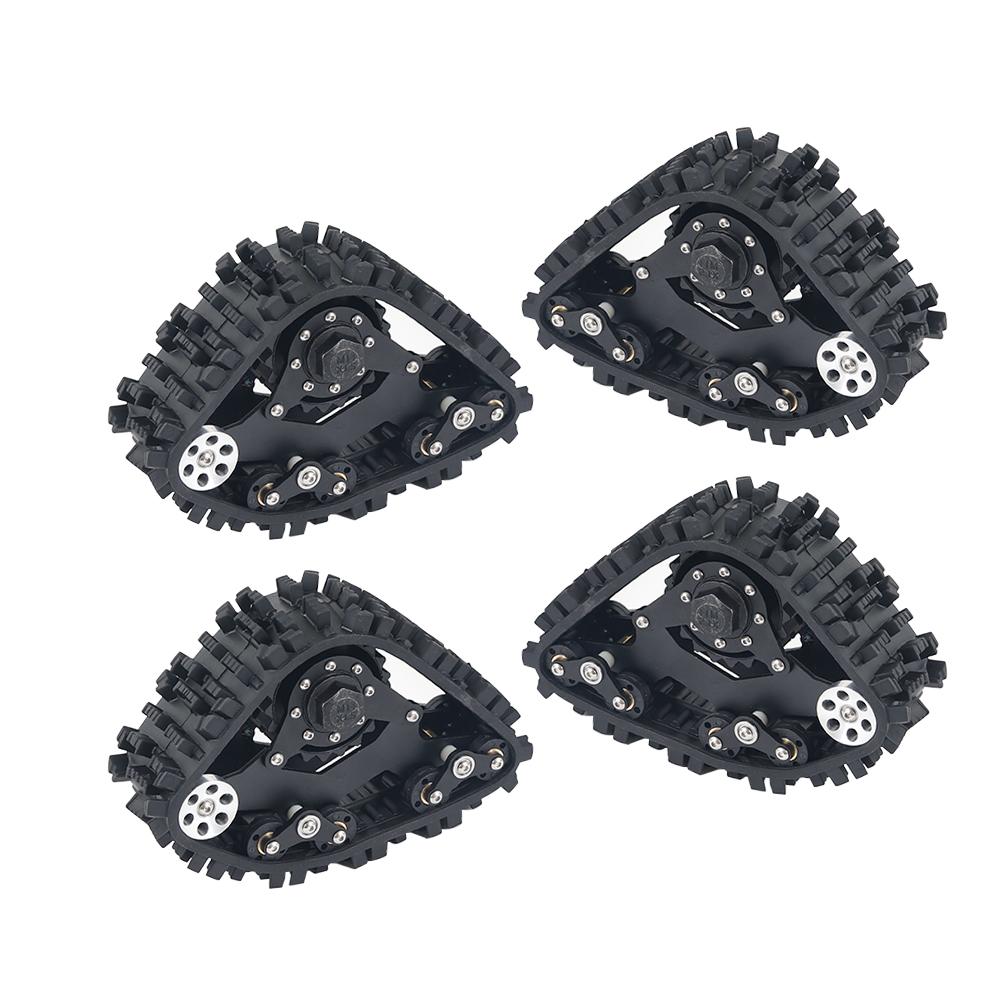 4PCS TRX4 Tracks Wheel Sandmobile Conversion Snow Tire for Traxxas TRX-4 1/10 RC Crawler Car black