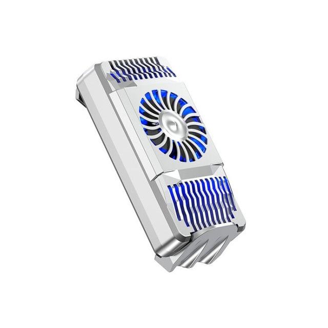Mobile Phone Cooler USB Fan Lightweight Radiator Anti-Noise Handheld Heatsink Stand Silver