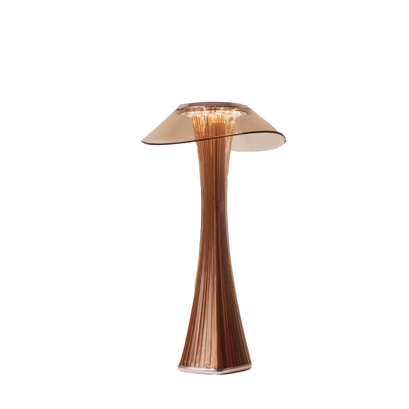 Small Waist Table Lamp USB Charging Learning Reading Eyes Protection LED Simple Desk Lamp Rose gold